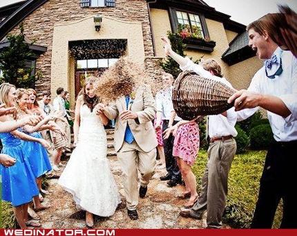 Hochzeitsbrauch Reiswerfen