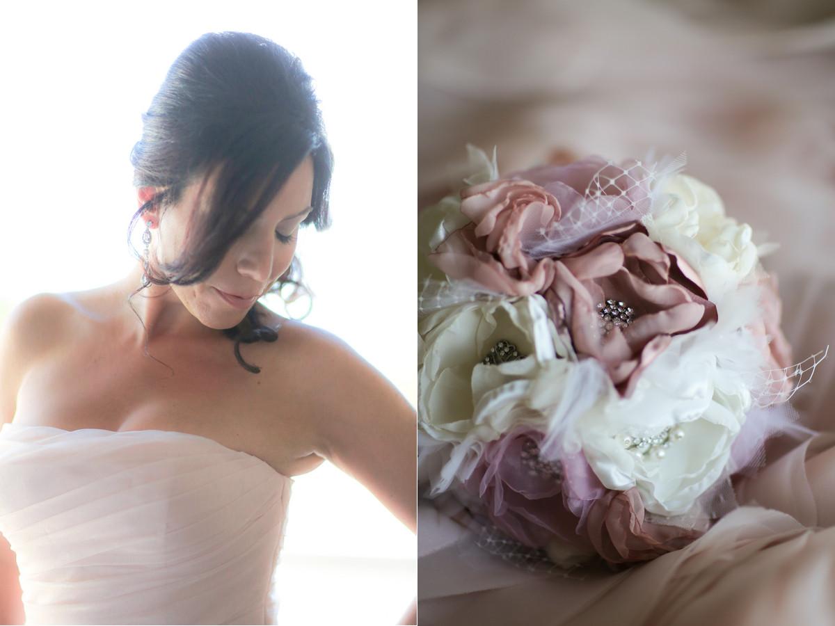 Braut und Strauß