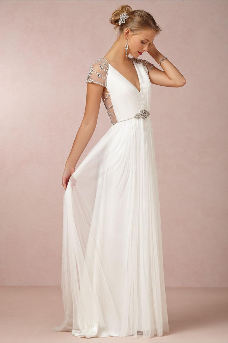 Perlen, Spitze, Ombre: Romantische Brautkleider von BHLDN