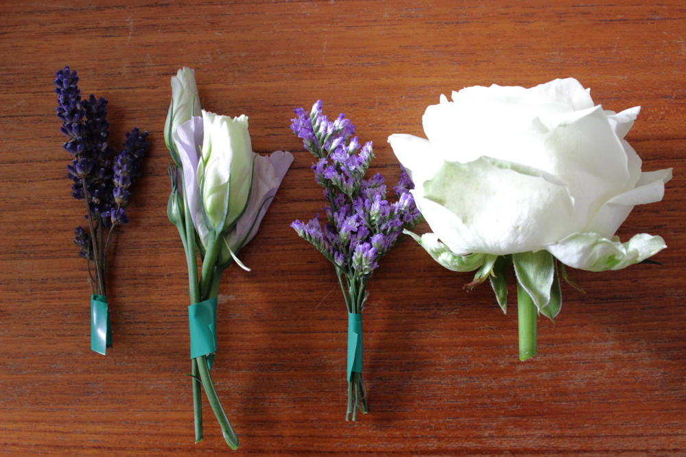 Blumenbündel einzeln