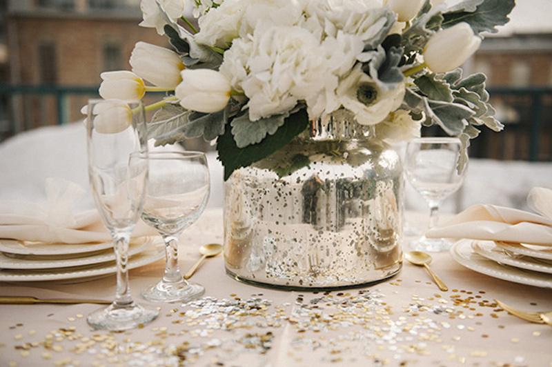 Hochzeit Im Winter Hochzeitsinspiration In Gold Weiss