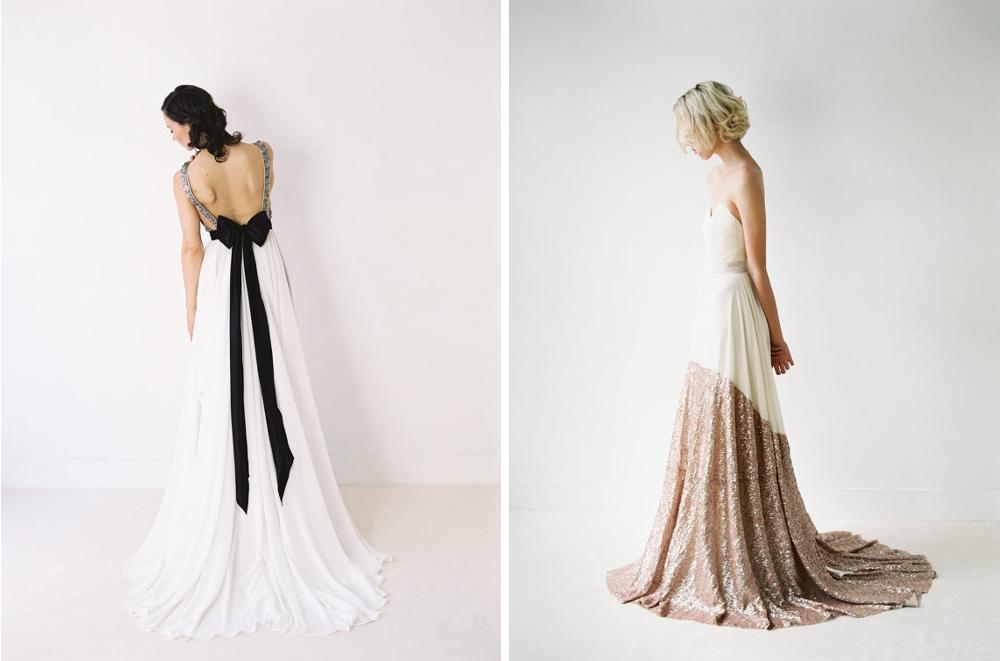 Unser Shoptipp ~ Brautkleider mit Pailletten von Truvelle