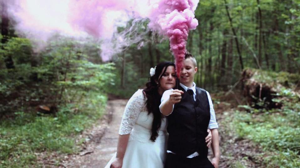 Hochzeit im wald bayern