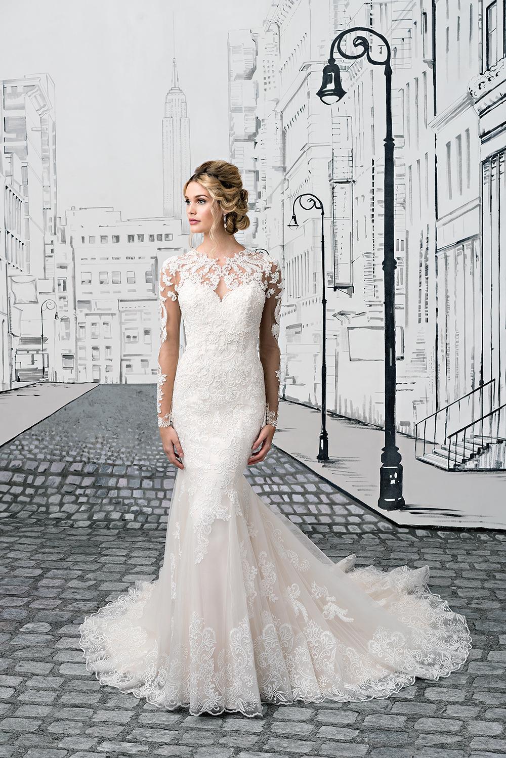 Von Spitzenärmeln bis Volants - Die Brautkleider-Trends 2017