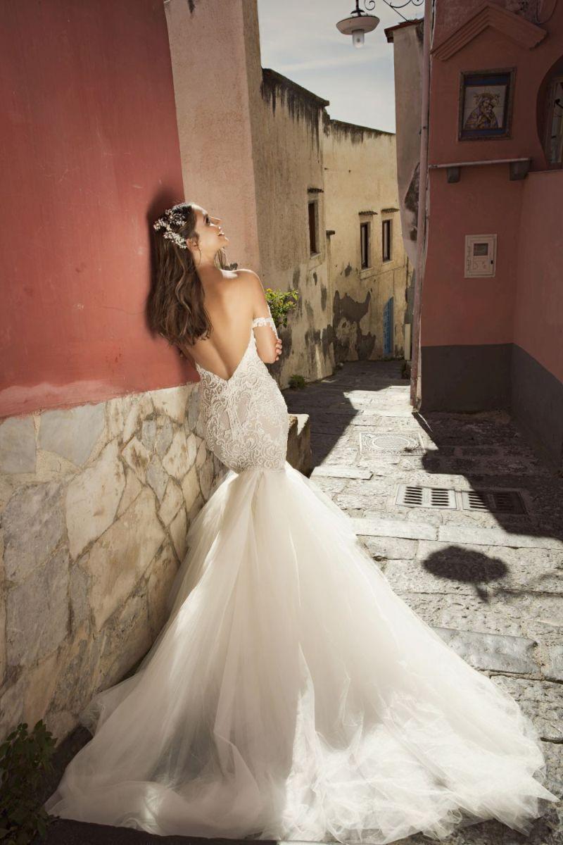 Julie Vino Fall 2017 Kollektion Brautkleid mit Tüllrock