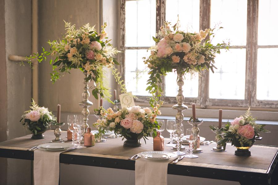 Tischdekoration für den perfekten Greenery Trend fotografiert von Fotografa Matriminio