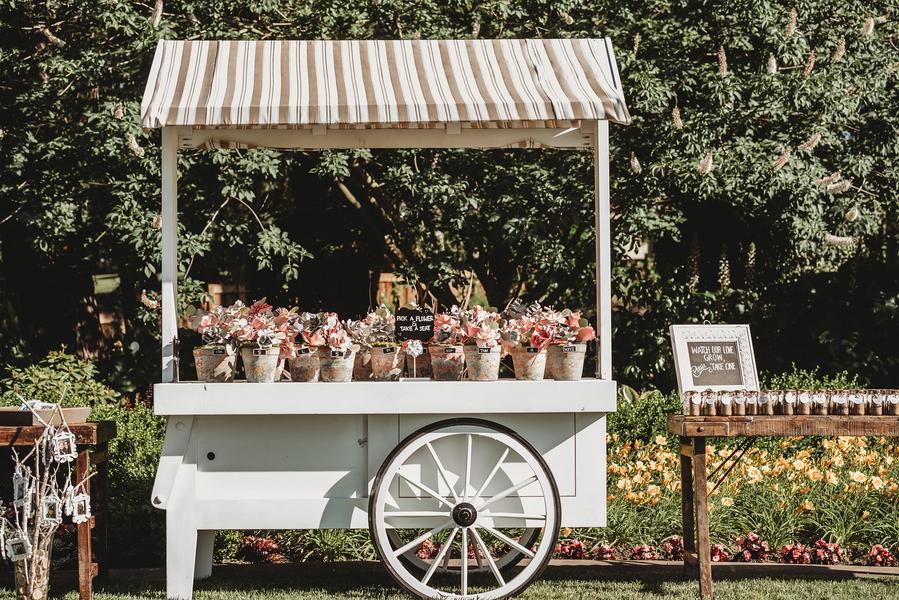 Vintage Hochzeit im Garten
