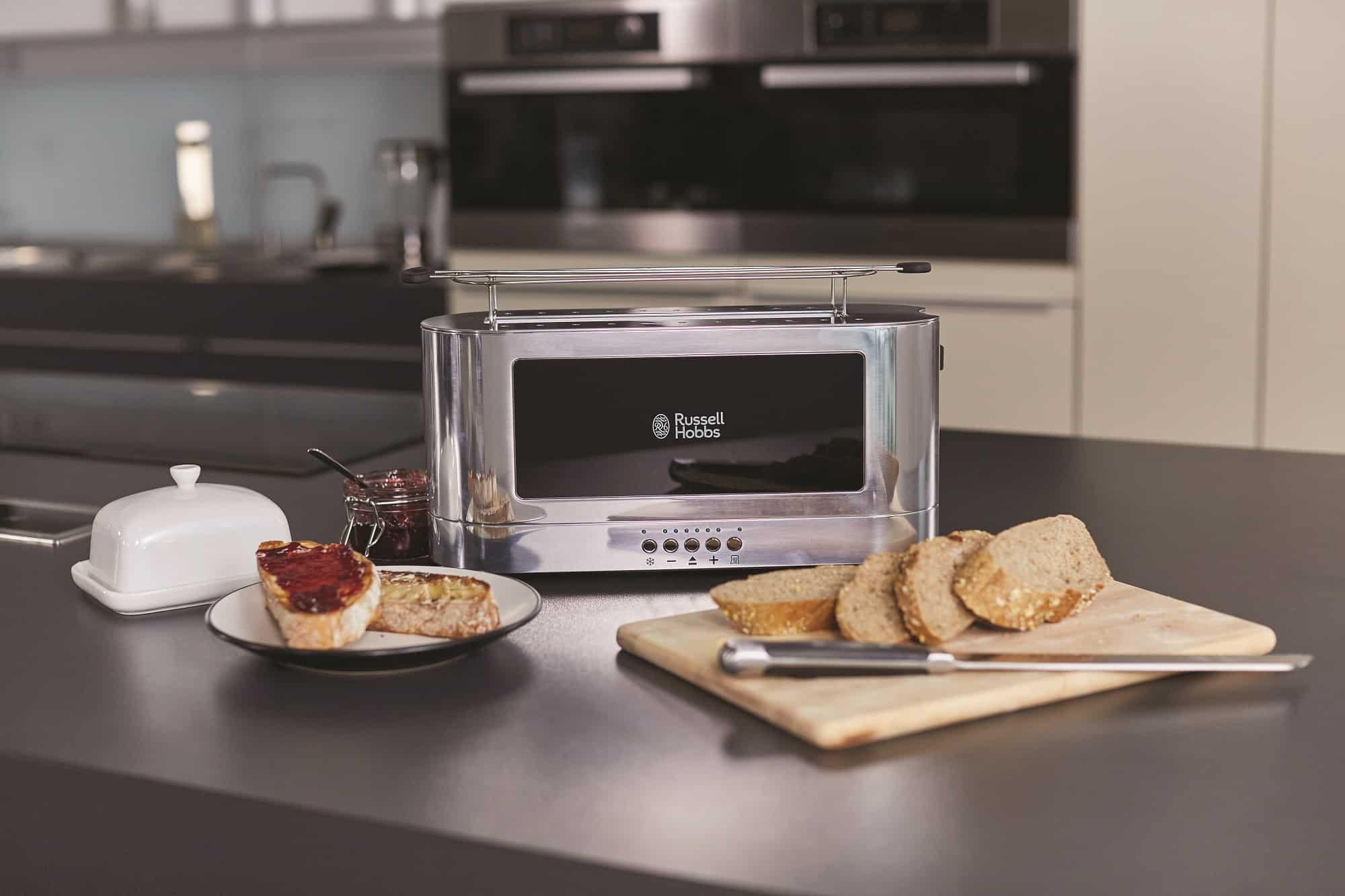 Langschlitz-Toaster aus der Elegance Serie von Russell Hobbs