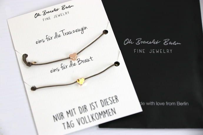 Trauzeugin gesucht mit Oh Bracelet Berlin