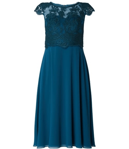 Cocktailkleid | https://www.peek-cloppenburg.de/christian-berg-cocktail/damen-cocktailkleid-mit-oberteil-aus-spitze-petrol-9814473_10/