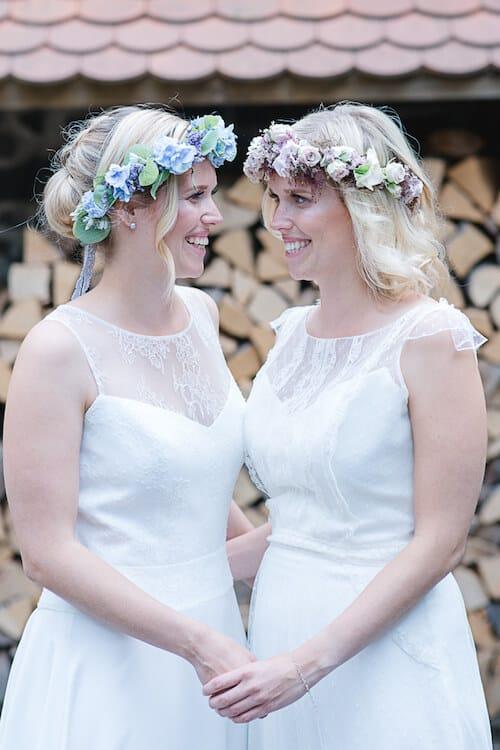 Die beiden glücklichen Bräute | Sandra Seibt Fotografie