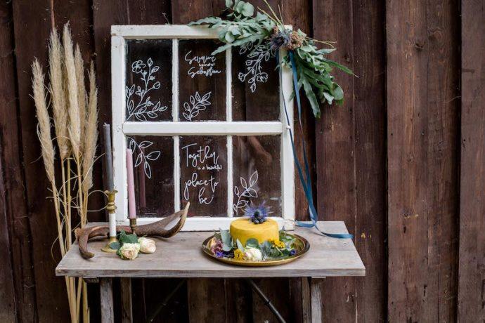 Gelbe Torte Vollbild | Franziska Finger Hochzeitsfotografie