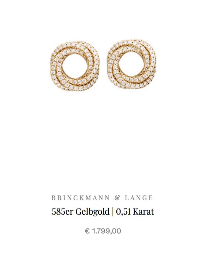 Gelbgoldene Ohrringe | Schmuck Brinckmann & Lange