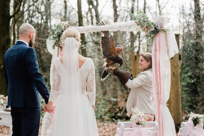 Hochzeit an einer Falknerei | bildsprache Sina Frantzen