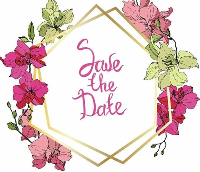 Save the Date mit Blumen | © panthermedia.net /AndreYanush