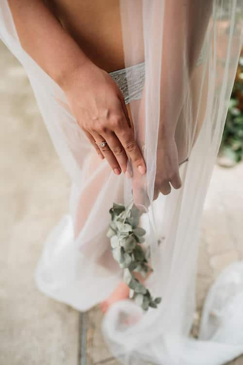 Schleier und Blumen | Lichtmädchen Fotografie